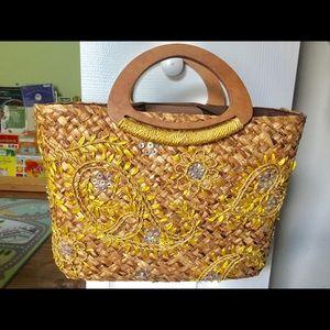 Cute strawmade handbag from Express